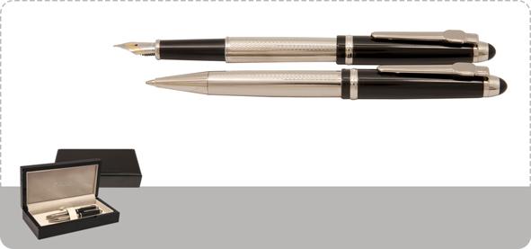 Europen Gallery Ballpoint Pen and Fountain Pen Set