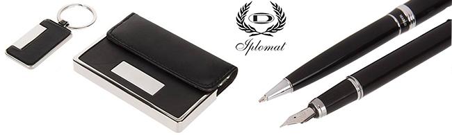 Iplomat Marlo ballpoint Pen and Fountain Pen Set