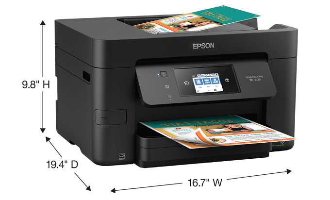 Epson WorkForce Pro WF-3720DWF Multifunction Inkjet Printer