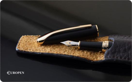 Europen Ring Ballpoint Pen and Rollerball Pen Set
